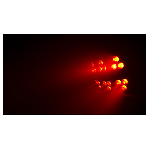 1 individual Wash FX 2 effect light with all red/orange lights
