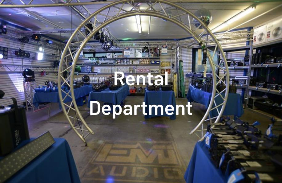 Rental Department & retail storefront EMI Audio