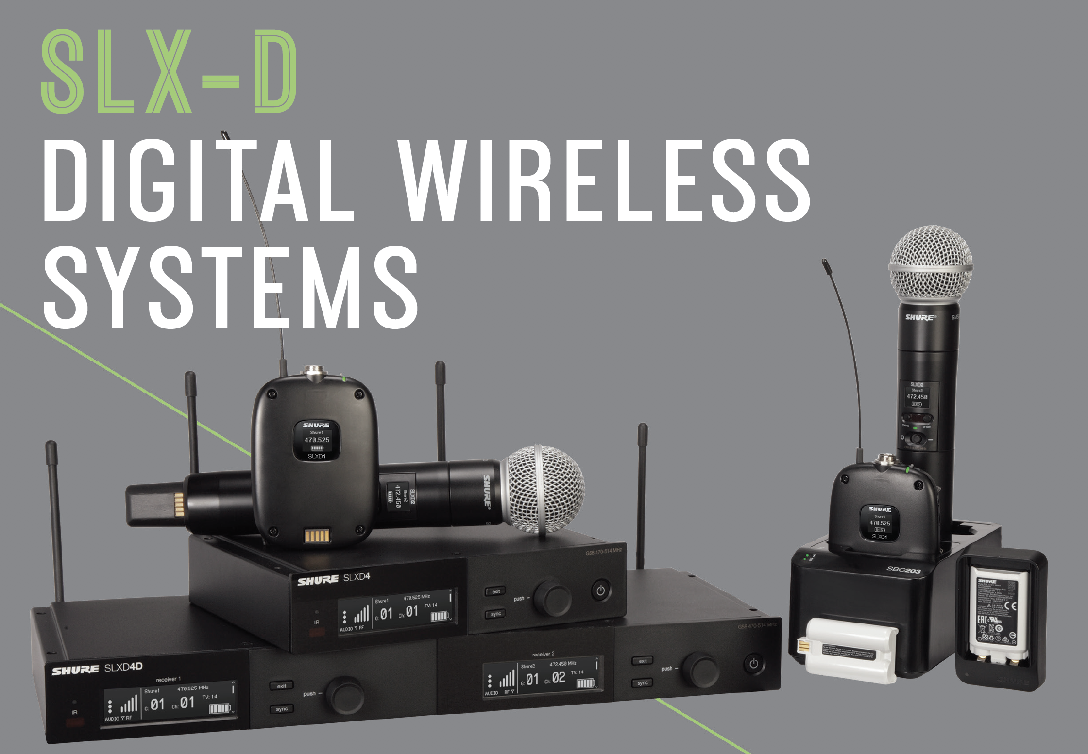 Shure SLXD family of wireless