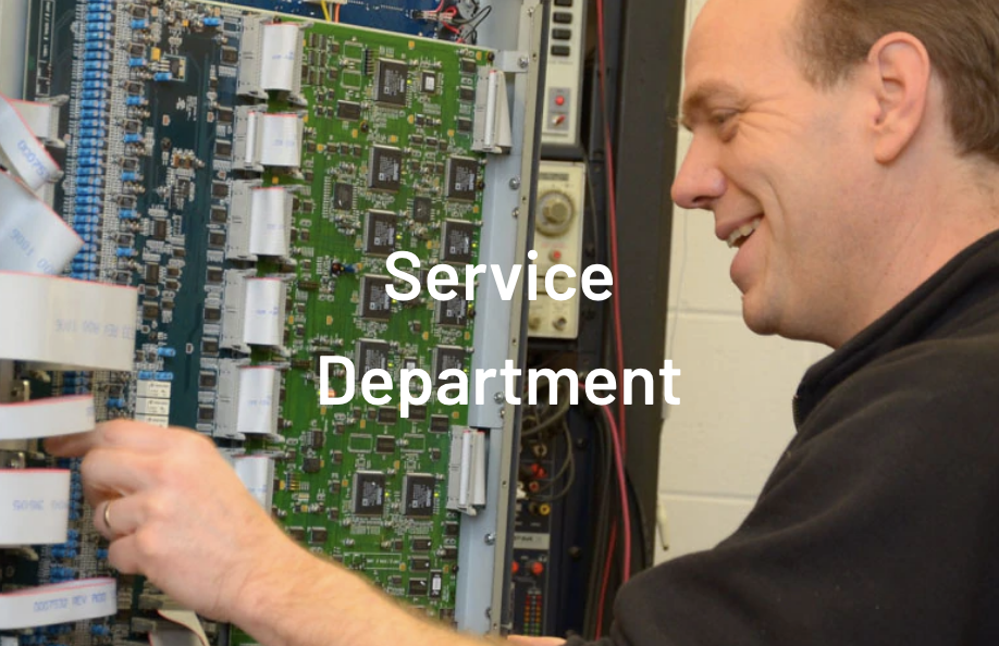 Service department on-site or at your location EMI Audio