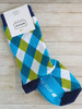 Women's green pattern socks