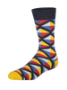 Geo Triangles Thick Summer (Pair) - Heroes on Socks