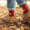 Socks with leaves