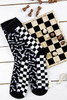 Men and Women's Novelty Chess Socks  (Pair) boardgame