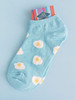 Women's Fried Egg Socks (Pair) No-Show Ankle  uk amazon