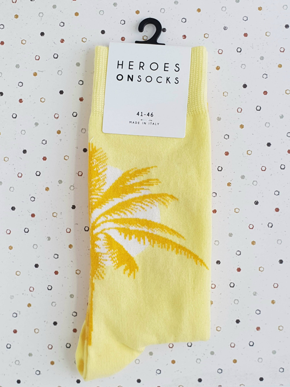 497350bbcbf91 Palms Large Yellow Socks (Pair) - Heroes on Socks