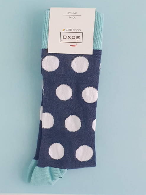 men's spotted socks