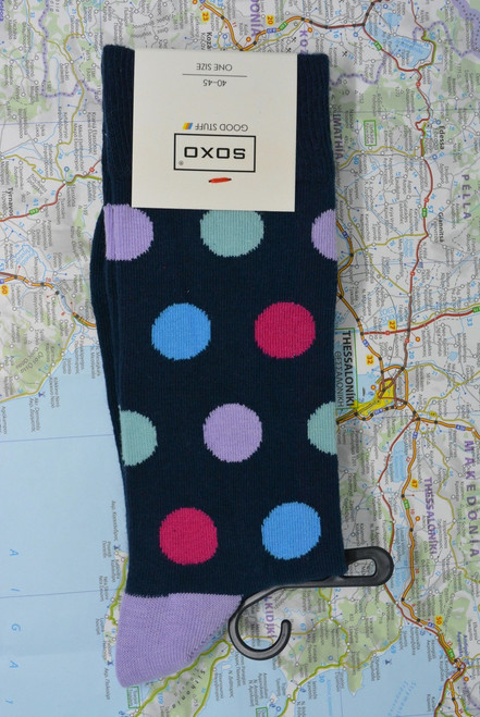 soxo spots - cheap spotted socks - uk sock shop - soxo socks