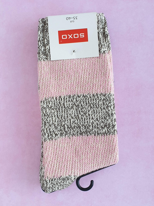 ladies winter pink socks