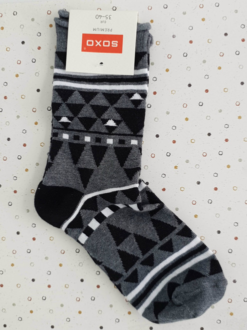 Ladies Loose top socks with nice pattern