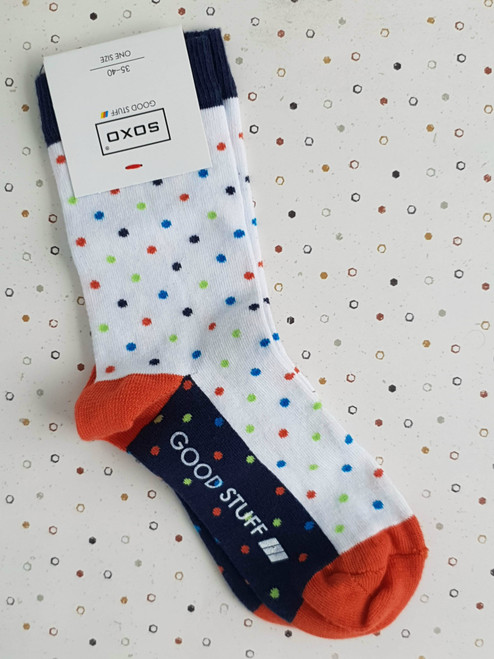 White ladies socks with spots