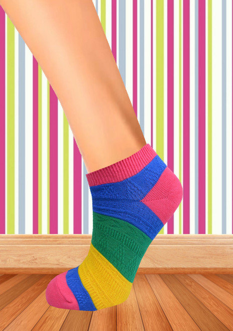 ladies colour ankle socks uk