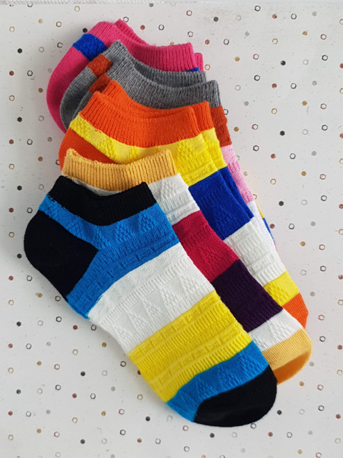 Pier Polo Multi Colour Ankle Socks