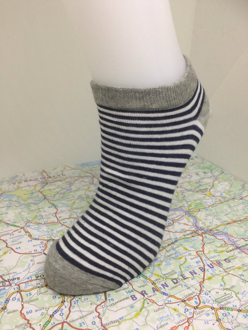 striped ankle socks - striped trainer socks for ladies, striped footie ankle socks