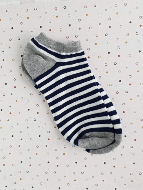 womens blue striped socks