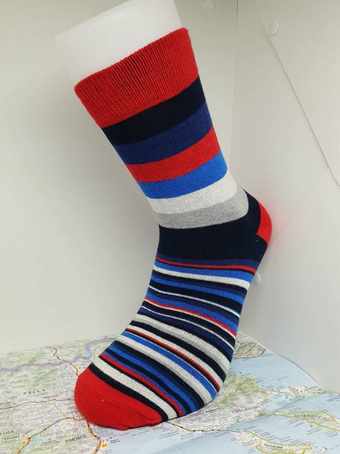 mens striped socks