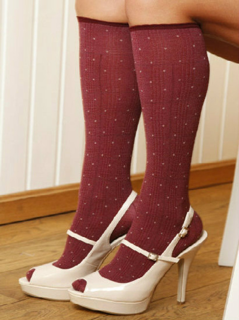 Ladies knee high socks, classic knee high socks