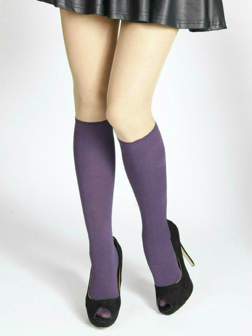 Women's purple knee high socks