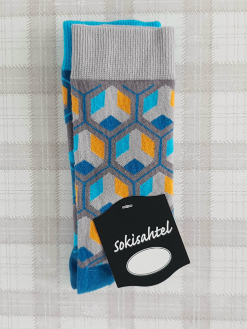 mens geometric socks uk