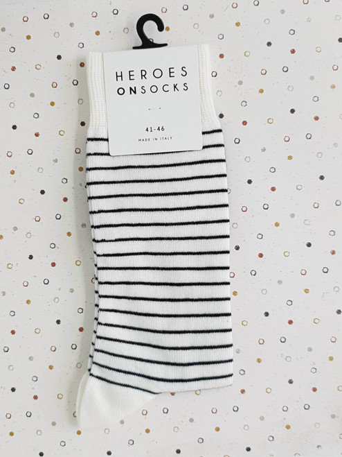 mens striped white socks
