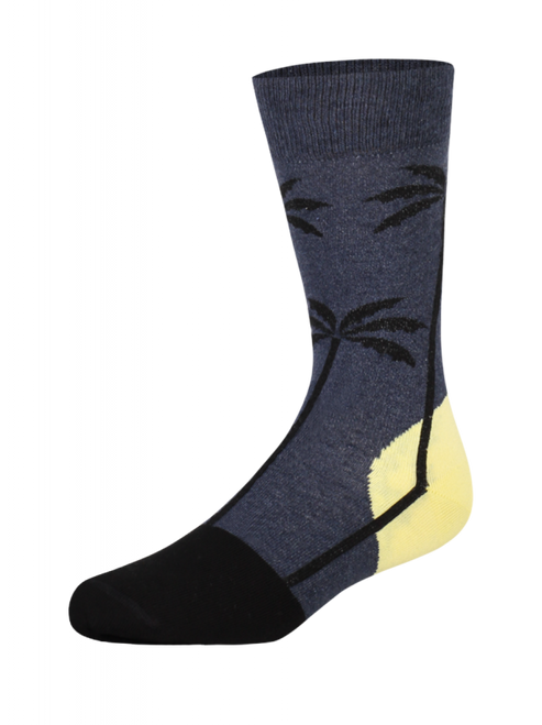 Palms Large Navy Socks (Pair) - Heroes on Socks