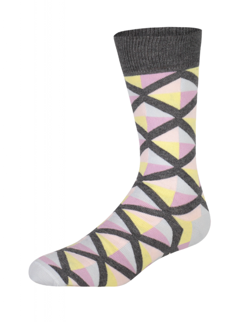 Geo Triangles Sunrise Herensokken (Pair) - Heroes on Socks