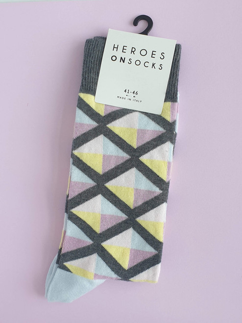 men's colourful patterned socks