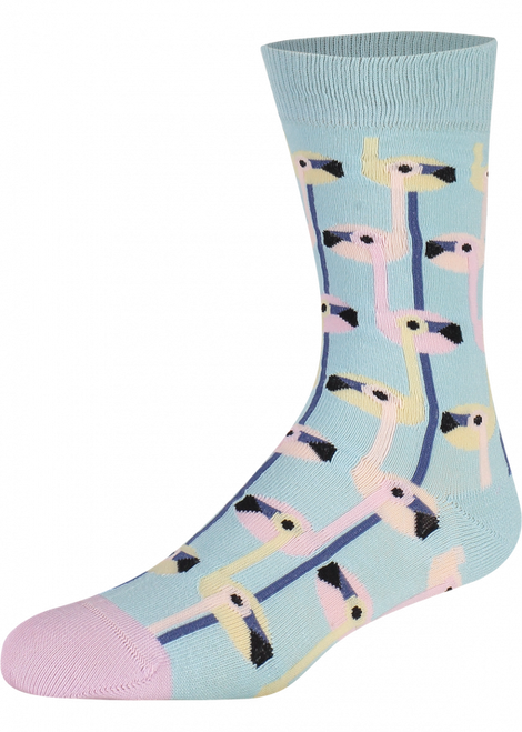 Go ahead with these Flaming Flamingos. The soft pastel-colored flamingos create a special illusion with your outfit. Let's Flam & Go out!