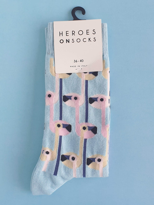 Women's Flamingo Socks Heroes on socks