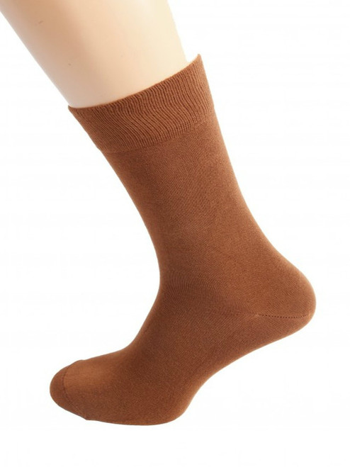 Men's brown bamboo socks