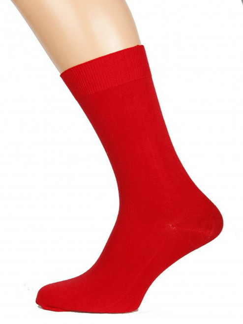 mens red bamboo socks