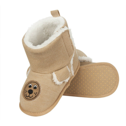 Infant High Boot Slippers - 0-24 Months - Light Brown