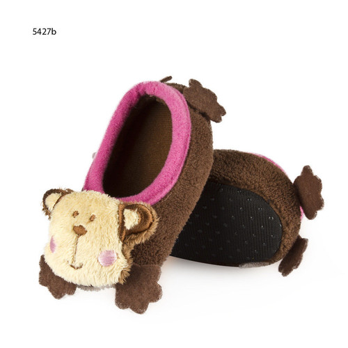 Infant Monkey Slippers 0-12 Months