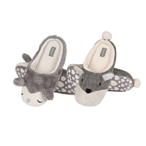Women's Fox Slippers - Cute Comfy Slippers (Size 1.5-5.5)