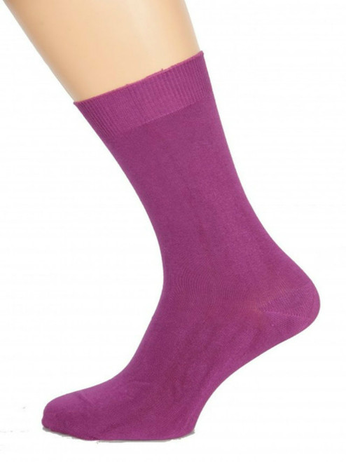 Men's Lilac Hollyhock Bamboo Socks