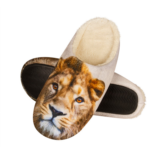 Mens lion slippers