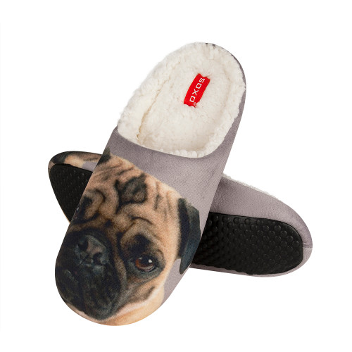 Men's Pug Slippers