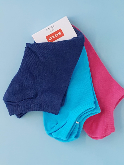 Women''s ankle Socks - Turquise, Fuchsia, Navy