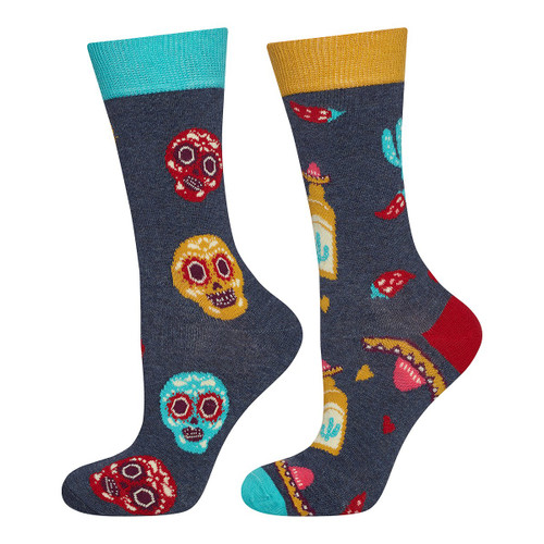 Womens Mexico Socks (Pair)  mexican gifts Dia De los Muerte gifts skulls
