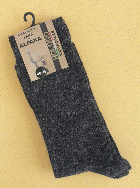 Mens Alpaca Socks (Pair) Black