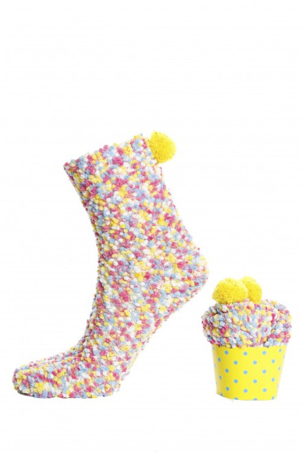Women's Cupcake Socks (Pair) Multicolour Fun Socks
