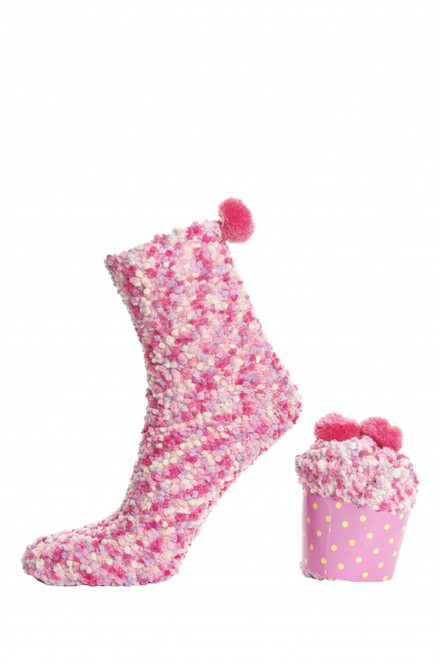 Women's Cupcake Socks (Pair) Pink Cupcake Socks