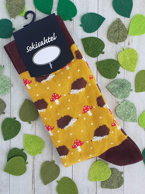 womens hedgehog socks uk sock shop animal print