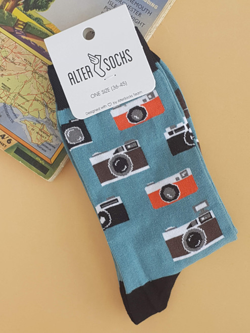 novelty Camera Socks uk sock shop