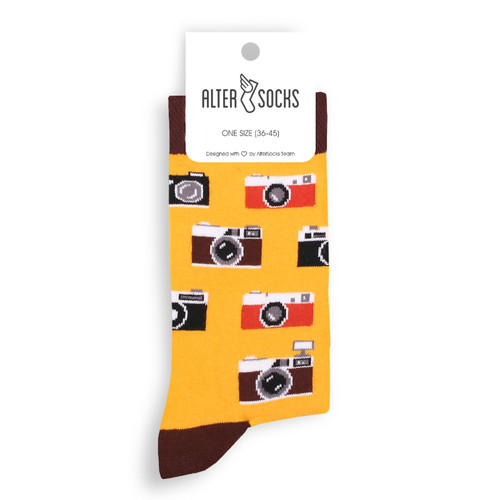 Camera Socks (Pair) Photography Socks Gift
