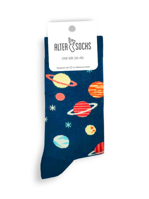 planet space socks men's and women's