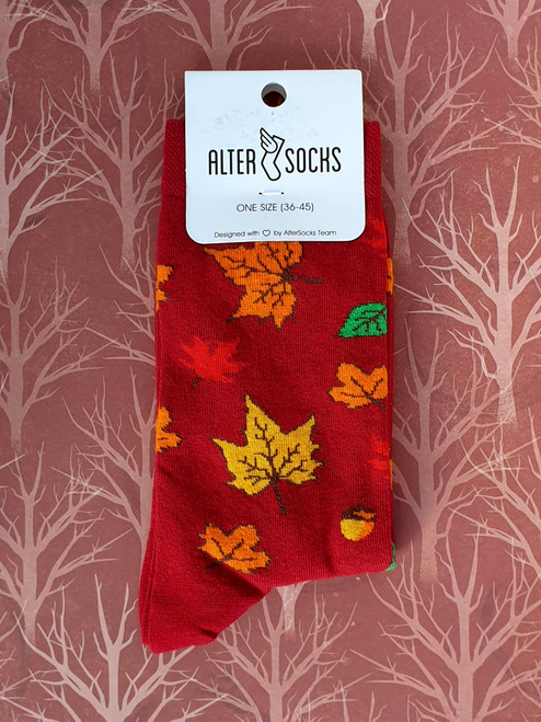 Men's socks with leaves Unisex uk