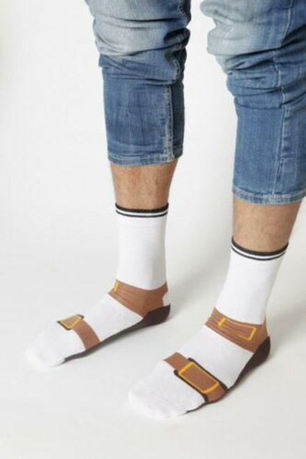 Mens Sandal Socks (Pair)  - Fun Novelty Socks