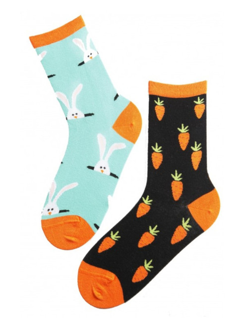 Women's Rabbit and Carrots Socks
