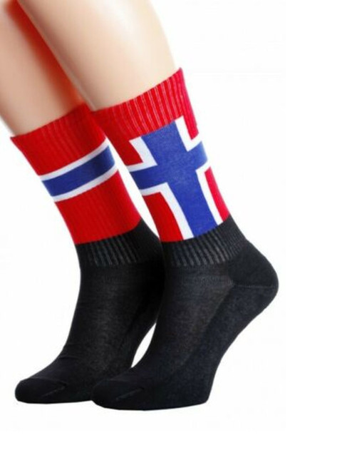 Norway flag socks for men and women uk